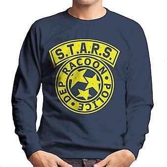 Resident Evil Sterne Polizei Logo Herren Sweatshirt