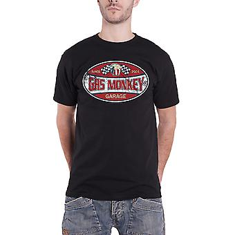 Gas Monkey Garage T Shirt Since 2004 Distressed Label Official Mens New Black