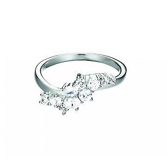 Esprit Damen Ring Silber Floating Stones Zirkonia ESRG92522B1