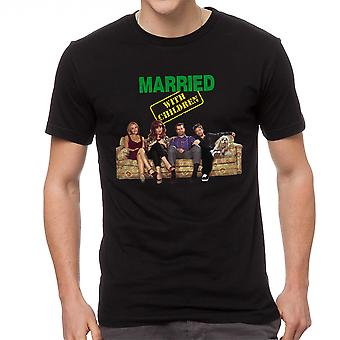 Married With Children Intro Cast Men's Black T-shirt
