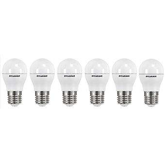 6 x Sylvania ToLEDo Ball Dimmable E27 V3 5.6W Daylight LED 470lm [Energy Class A+]