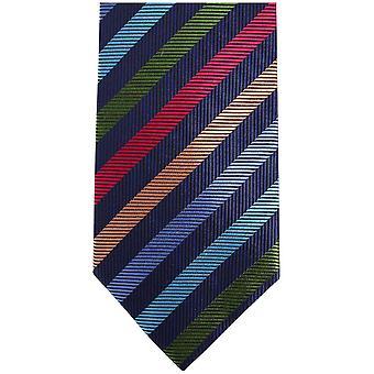 Knightsbridge dassen Kensington gestreepte zijden stropdas - meerkleurig