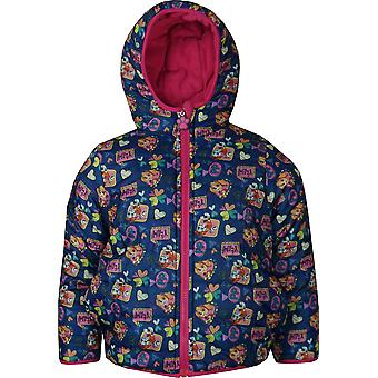 Girls DHQ1321 Paw Patrol Hooded Reversible Jacket Size: 3-6 Years