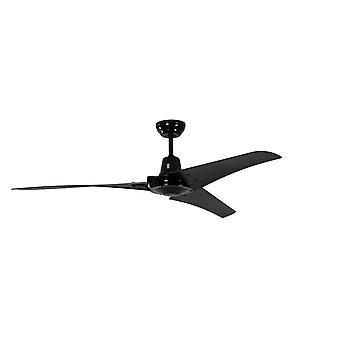 Industrial ceiling fan Vourdries Black with remote
