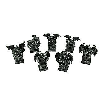 Gunmetal resina sete pecados mortais gárgula Mini estátuas de caráter