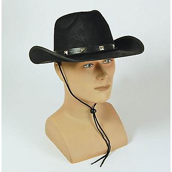 Black Felt Cowboy Studded Hat.