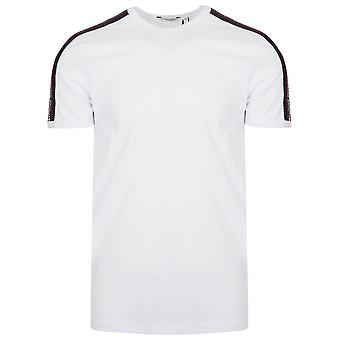 Antony Morato Sport Crew Neck White Shoulder Taped T-Shirt