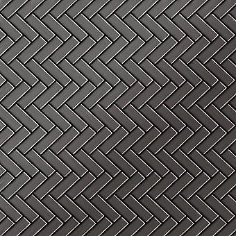 Metall mosaik TITANLEGERING fiskbensmönster-Ti-SB