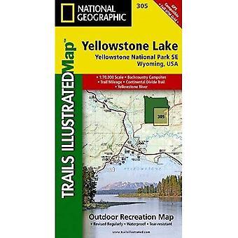 Yellowstone Lake 305 ng Yellowstone NP SE (Trails Illustrated)
