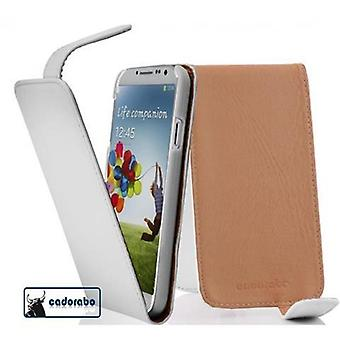 Cadorabo Case for Samsung Galaxy S4 Case Cover - Phone Case in Flip Design in Smooth Faux Leather - Case Cover Case Case Case Case Book Folding Style