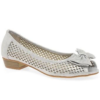 Lunar (GRS) Mount Womens Punched Detail Peep Toe Court Shoes