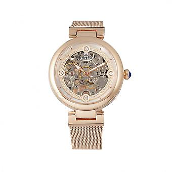 Empress Adelaide Automatic Skeleton Mesh-Bracelet Watch - Rose Gold