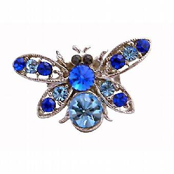 Elegant Gift Aquamarine Bumble Bee Brooch
