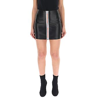 Heron Preston Hwcc001r197670441019 Women's Black Leather Skirt
