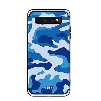 NXE Samsung Galaxy S10 + TPU-shell-camouflage-blue