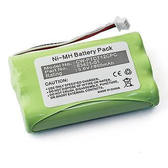 Batterij voor Plantronics CT11 & CT12 draadloze telefoon Headset - 63421-01 3.6V Ni-MH