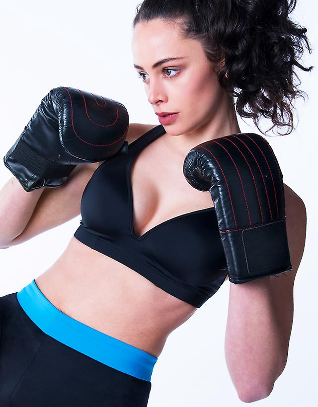 Black Sports Bra Leilani         Gym To Swim®