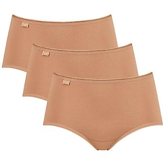 Sloggi 3 Pack 24/7 Cotton Midi Briefs - Brown