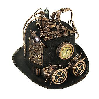 Steampunk Top Hat z manometrem i dioda LED