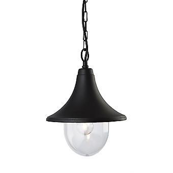 Erstlicht-1 Light Lantern-Pendant Black Die Cast Aluminium IP44-8670BK