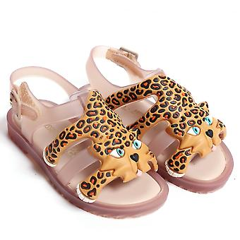 Melissa Shoes Mini JS Flox Leopard Sandal, Nude