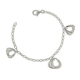 Bracelet 19 Cm Triangles 925 Silver Zirconium