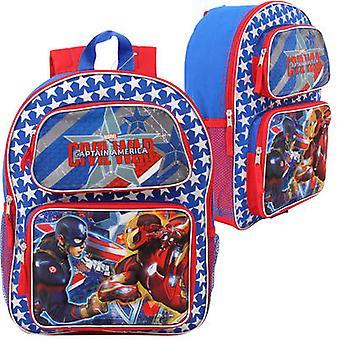 Backpack - Marvel - Captain America Civil War 3D Pop-Up New 681573