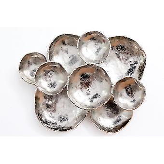 Silver Finish Mushroom Wall D�cor 53x43cm stylish