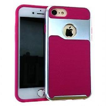 Unlimited Cellular 2 en 1 Cas hybride pour iPhone 8/7 - Magenta et Argent