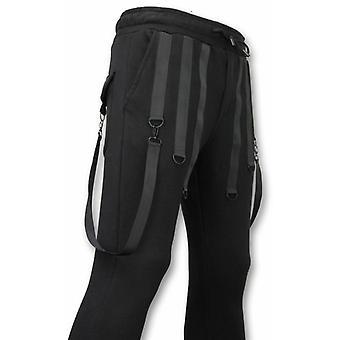 Casual Sweatpants-Basic Braces-Black