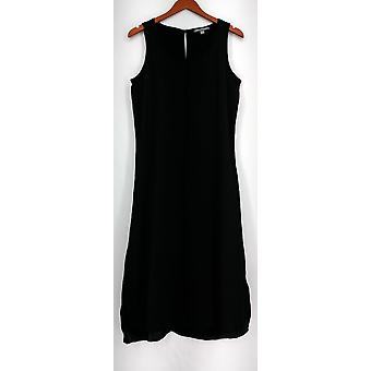 Kate & Mallory Dress Scoop Neckline Sleeveless Dress w/ Seam Black A426104