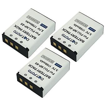 3 x Dot.Foto Fujifilm NP-85 akun - 3.7v / 1700mAh