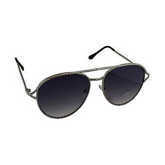 Sunglasses UV 400 Aviator Silver ZwartHL202_1