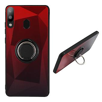BackCover Rengas / Magneetti Aurora Samsung A20 - A30 Punainen + Musta