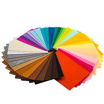 TRIXES 40Pcs شعر أوراق النسيج لون متنوعة للحرف اليدوية - 12 × 9 بوصة