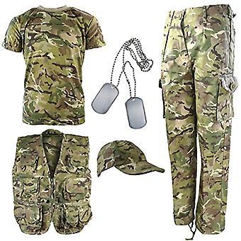 Kombat UK Kit DPM Costume Camouflage Explorer Army - Child - BTP - British Terrain Pattern - 12-13 Years