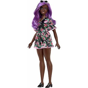 Barbie Fashionistas Doll #125 ebony doll with purple hair color