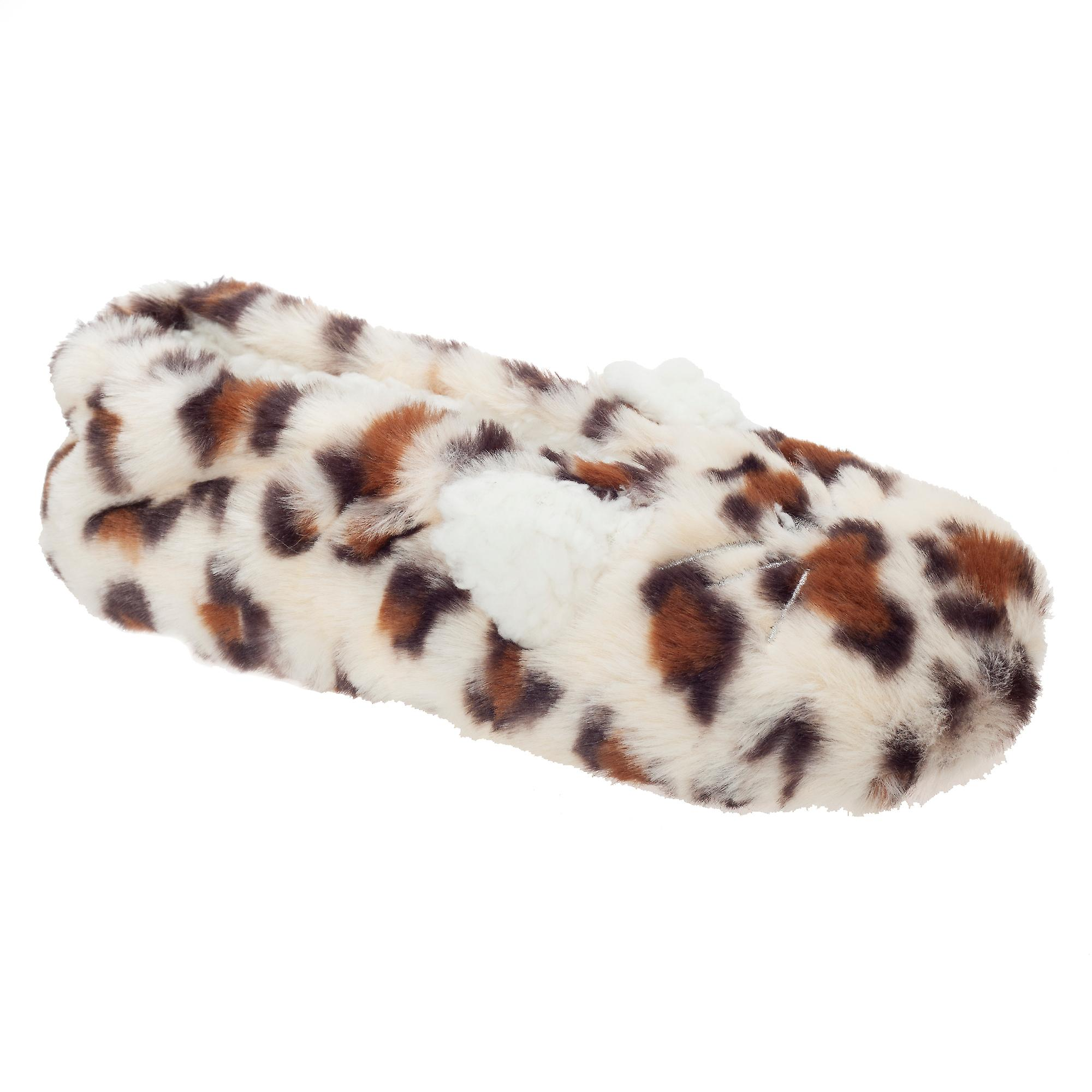 Slumberzzz Womens/Ladies Leopard Ballet Slippers
