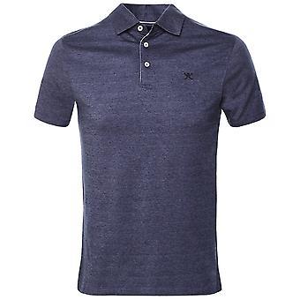 Hackett Slim Fit Linen Blend Polo Shirt