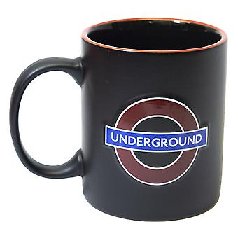 Licensed official tfl embossed underground™ ceramic mug