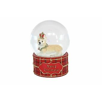 Gisela Graham Corgi with Crown Snow Globe