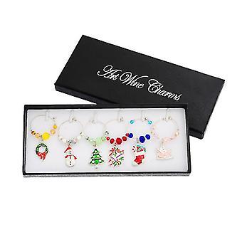 Weihnachtsdekoration für Weinglas Dekoration-6 Stück in Geschenk-Box