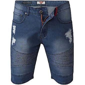 Duke D555 Herren Rodrigo groß groß König Größe zerrissen Sommer Shorts Hose - Vintage