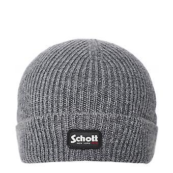 Schott Adrian Ribbed Beanie Hat
