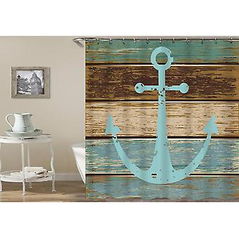 Old Deck Anchor Shower Curtain
