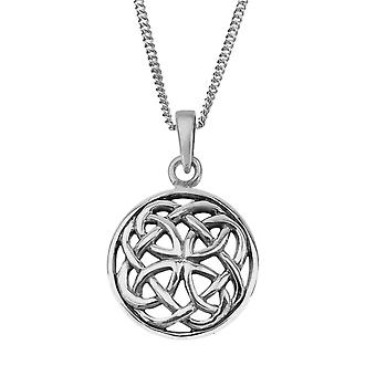 Celtic Eternity Knotwork Round Style Necklace Pendant Ciara - Inclut 16'quot; Chain