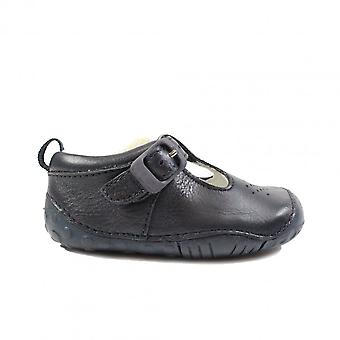 Startrite Baby Jack Navy Leather Unisex T Bar Pre Walker Shoes