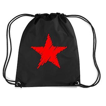 Black backpack dec0329 red star