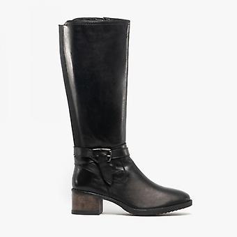 Lotus Janessa Ladies Leather Tall Boots Black