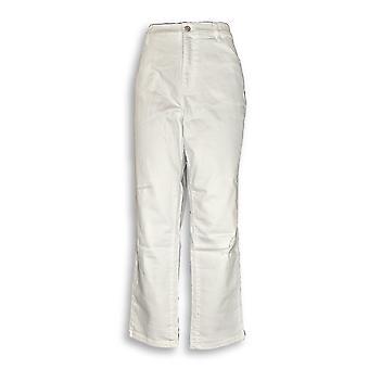 Denim & co. kvinner ' s Plus jeans klassisk hvit A344000